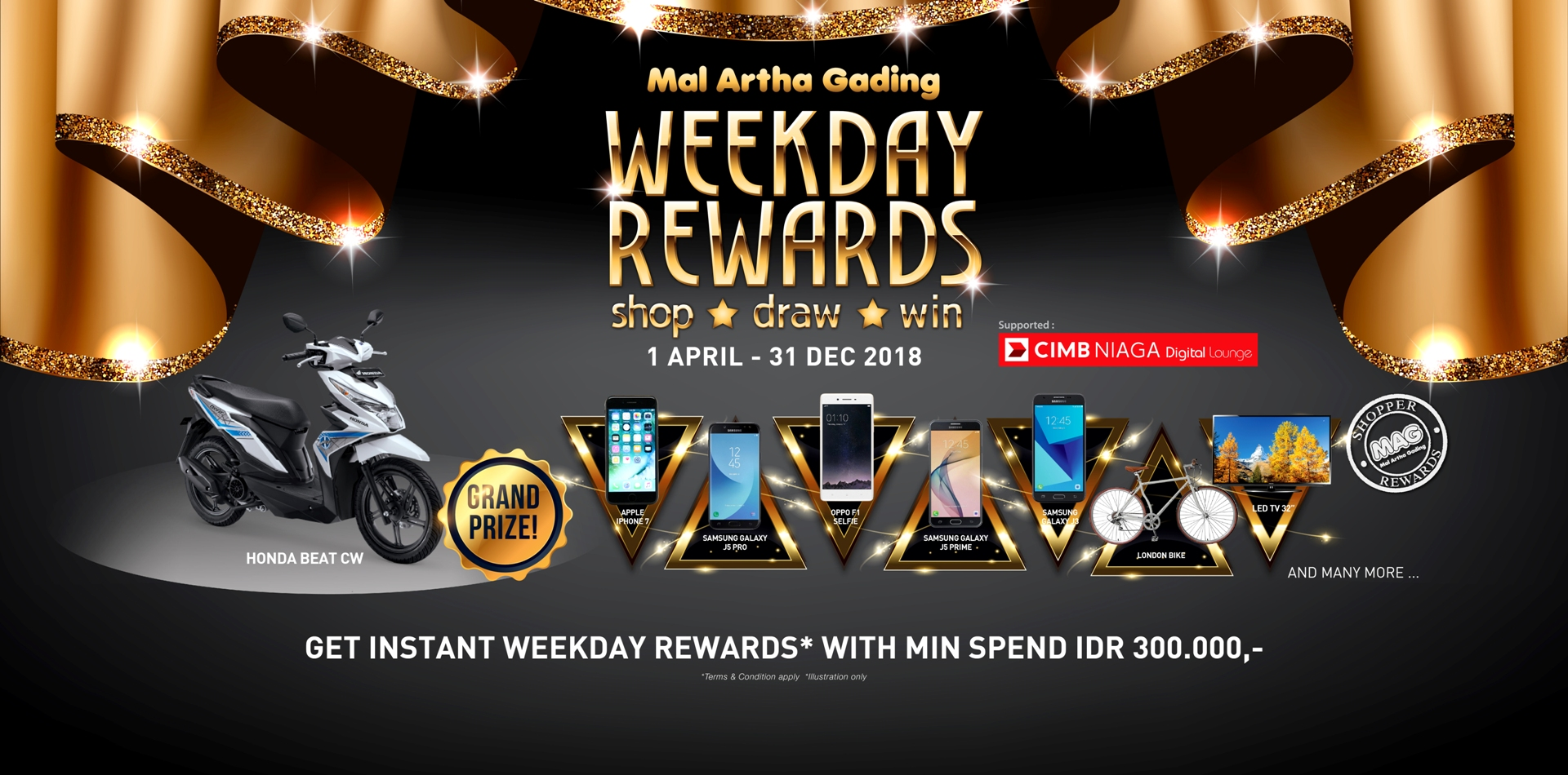 Weekday Rewards 2018